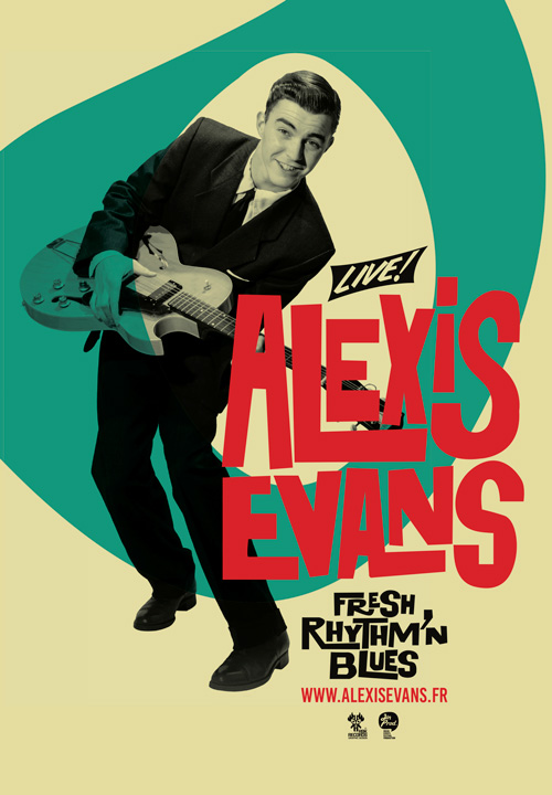 Alexis Evans fresh Rhythm'n'Blues Affiche 500x720