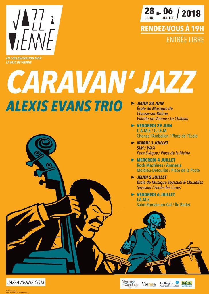 Affiche Caravan Jazz Vienne 2018